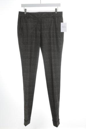 Marc Cain Pantalon en laine brun foncé-brun motif à carreaux style classique