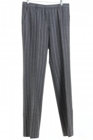 Marc Cain Woolen Trousers grey-light grey striped pattern business style