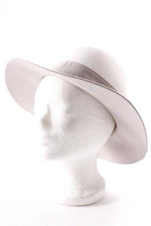 Marc Cain Chapeau en laine gris clair-blanc cassé élégant