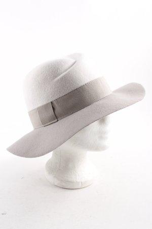 Marc Cain Woolen Hat light grey-natural white elegant