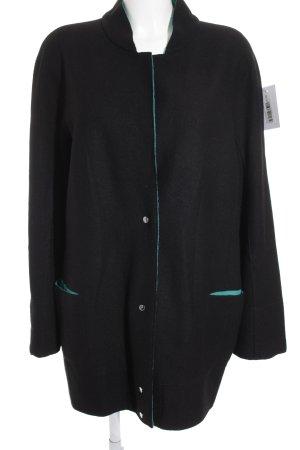 Marc Cain Veste en laine noir-vert style extravagant