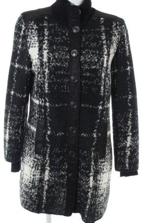 Marc Cain Wollen jas zwart-wit volledige print zakelijke stijl