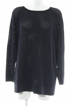 Marc Cain Wollpullover dunkelblau grafisches Muster College-Look