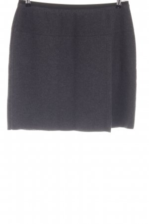 Marc Cain Wool Skirt black flecked casual look