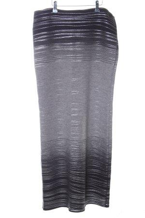 Marc Cain Gonna di lana grigio chiaro-nero motivo a righe