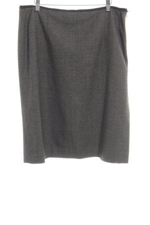 Marc Cain Gonna di lana marrone-grigio scuro motivo animale stile casual