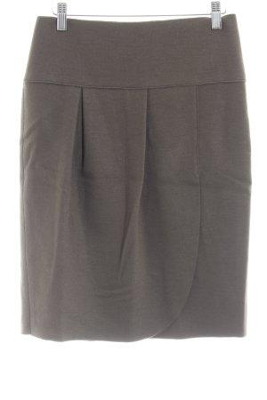 Marc Cain Wollen rok grijs-bruin klassieke stijl