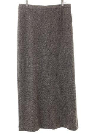 Marc Cain Gonna di lana marrone-grigio-nero modello web look retrò