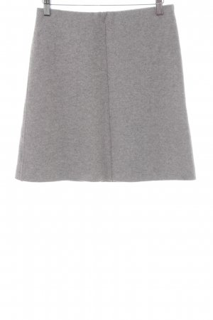 Marc Cain Wool Skirt light grey flecked simple style