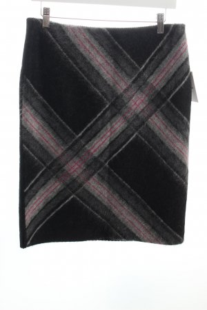 Marc Cain Wool Skirt check pattern fluffy
