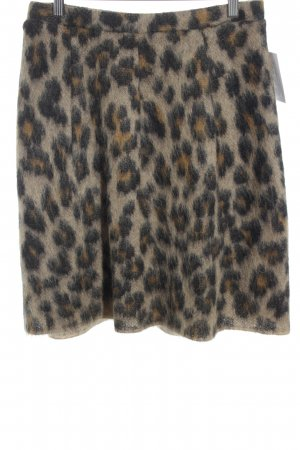 Marc Cain Wool Skirt leopard pattern business style
