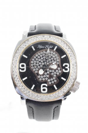 Marc Ecko Watch With Leather Strap black casual look