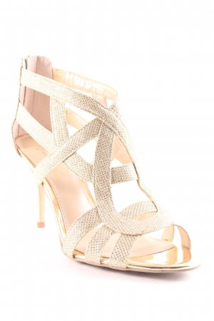 Marc Fisher Strapped High-Heeled Sandals gold-colored glittery