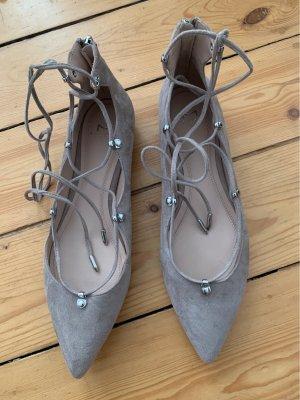 Marc Fisher Strappy Ballerinas beige-grey brown