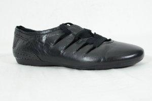 MARC Halbschuhe Ballerinas Schnürung Leder Schwarz Gr. 40