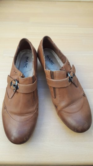 Marc Hochfront Pumps Slipper braun cognac Gr. 4 (37)