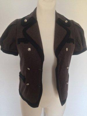 Marc Jacobs Blazer court brun laine