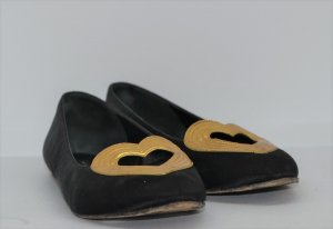 Marc Jacobs Ballerinas black-gold-colored