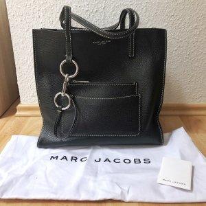 Marc Jacobs Bold Grind Shopper Leder Kuhleder schwarz silberfarben