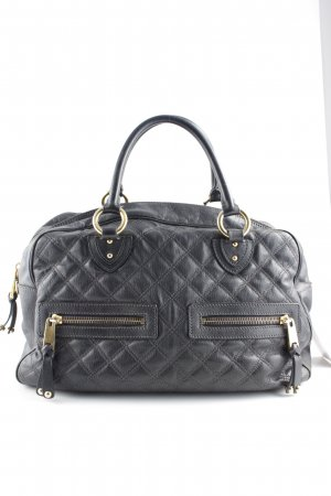 Marc Jacobs Bowlingtasche anthrazit-goldfarben Steppmuster Casual-Look