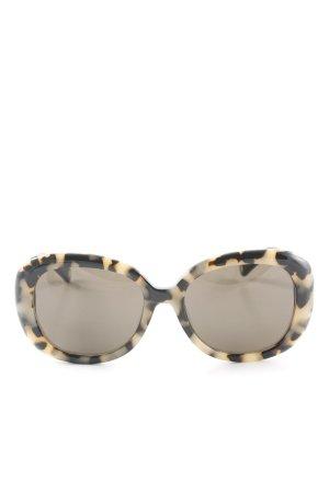 Marc Jacobs Butterfly Brille schwarz-creme abstraktes Muster extravaganter Stil