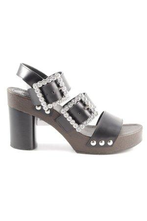 Marc Jacobs Clog Sandalen schwarz-braun extravaganter Stil