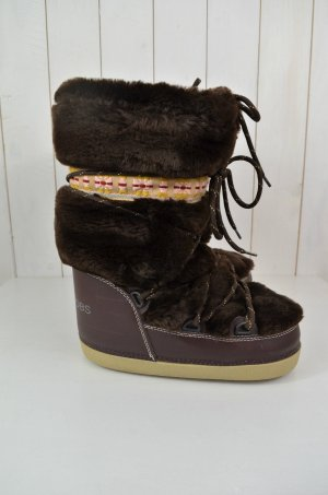 MARC JACOBS Damen Furry Moon Boots Stiefel Braun Fellimitat Winter Gr.S(37-37,5)