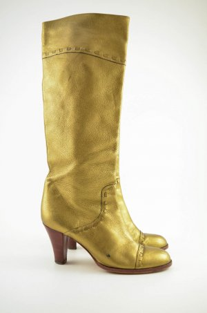 Marc Jacobs Heel Boots gold-colored leather
