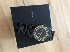 Marc Jacobs Watch With Metal Strap black-gold-colored