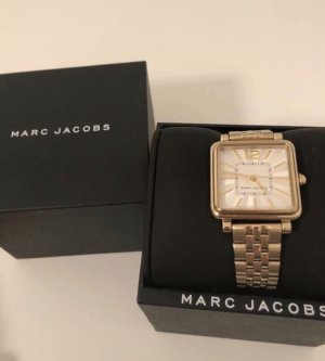 Marc Jacobs Watch With Metal Strap sand brown