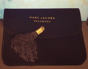 Marc Jacobs Decadence Case, Velvet, schwarz gold Pouch, Clutch, NEU