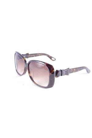 Marc Jacobs eckige Sonnenbrille dunkelbraun-hellbraun abstraktes Muster