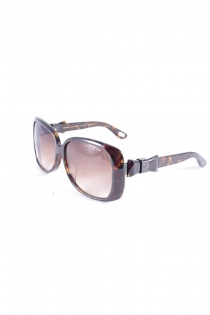 Marc Jacobs Angular Shaped Sunglasses dark brown-light brown abstract pattern