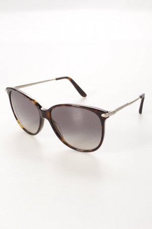 Marc Jacobs eckige Sonnenbrille schwarz Animalmuster klassischer Stil