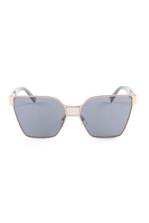 Marc Jacobs eckige Sonnenbrille schwarz-bronzefarben extravaganter Stil