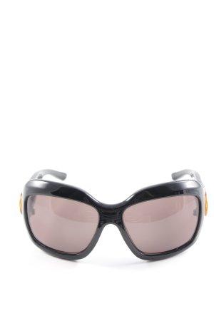 Marc Jacobs Hoekige zonnebril zwart elegant