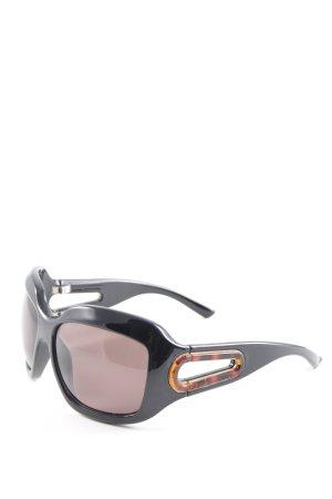 Marc Jacobs eckige Sonnenbrille schwarz Elegant