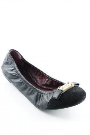 Marc Jacobs Bailarinas plegables negro-color oro elegante
