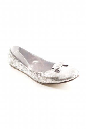 Marc Jacobs Bailarinas plegables color plata look casual