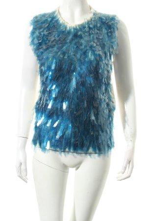 Marc Jacobs Feinstrickpullunder blau-wollweiß extravaganter Stil