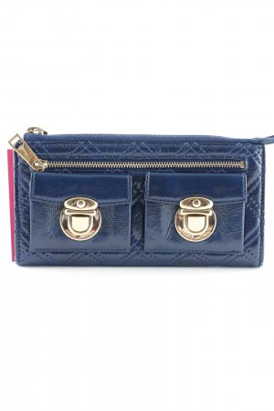 Marc Jacobs Wallet blue-gold-colored wet-look
