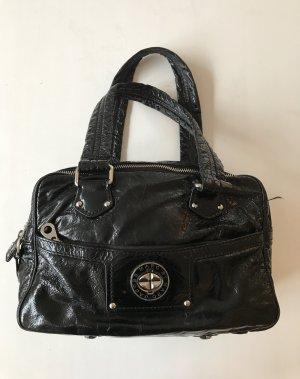 Marc Jacobs große Lack Leder Henkel umhänge Tasche schwarz