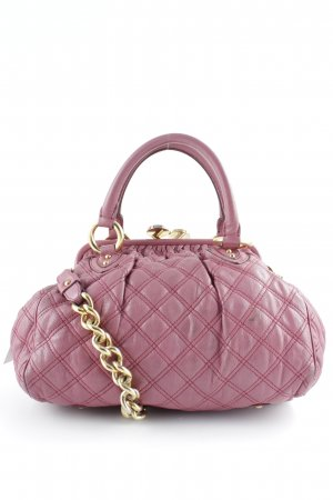 Marc Jacobs Carry Bag dusky pink-gold-colored quilting pattern elegant