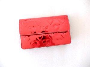 Marc Jacobs Herzchen Clutch hearts metallic rot umhängetasche