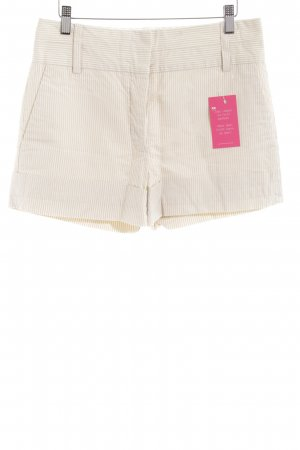 Marc Jacobs Hot pants crema-beige motivo a righe stile casual