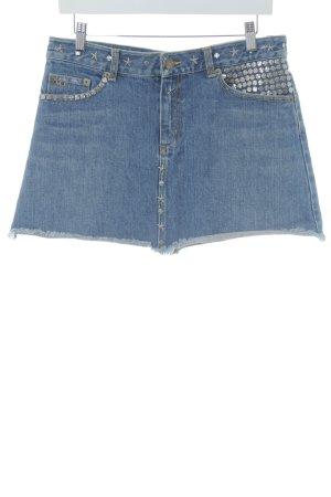 Marc Jacobs Gonna di jeans blu acciaio stile urbano