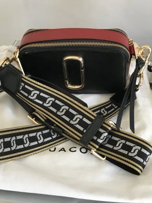 Marc Jacobs Sac à main bordeau-noir cuir