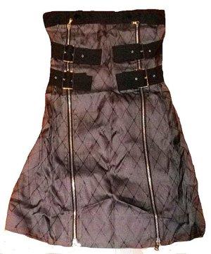 Marc Jacobs Robe bustier gris-noir soie