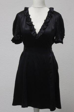 MARC JACOBS Kleid dress Gr. 8 / 38 schwarz Seide #MF/B/07-107#