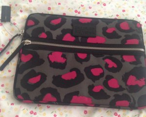Marc Jacobs Laptop case animal print Himbeere